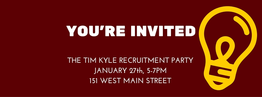 Come to Our Recruitment Party! - Tim Kyle
